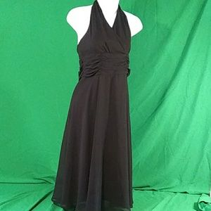 Connected apparel gorgeous long halter dress sz 6